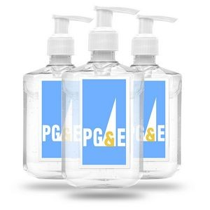 8 oz Custom Label Hand Gel Sanitizer Pump Bottle